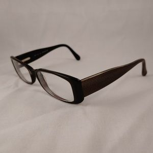 CHELSEA MORGAN Rx Eyeglasses CM 718 BR Brown Grid